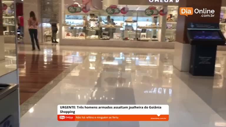32a20445f Portal Dia Online acompanha ao vivo movimentação após assalto em loja do  Goiânia Shopping